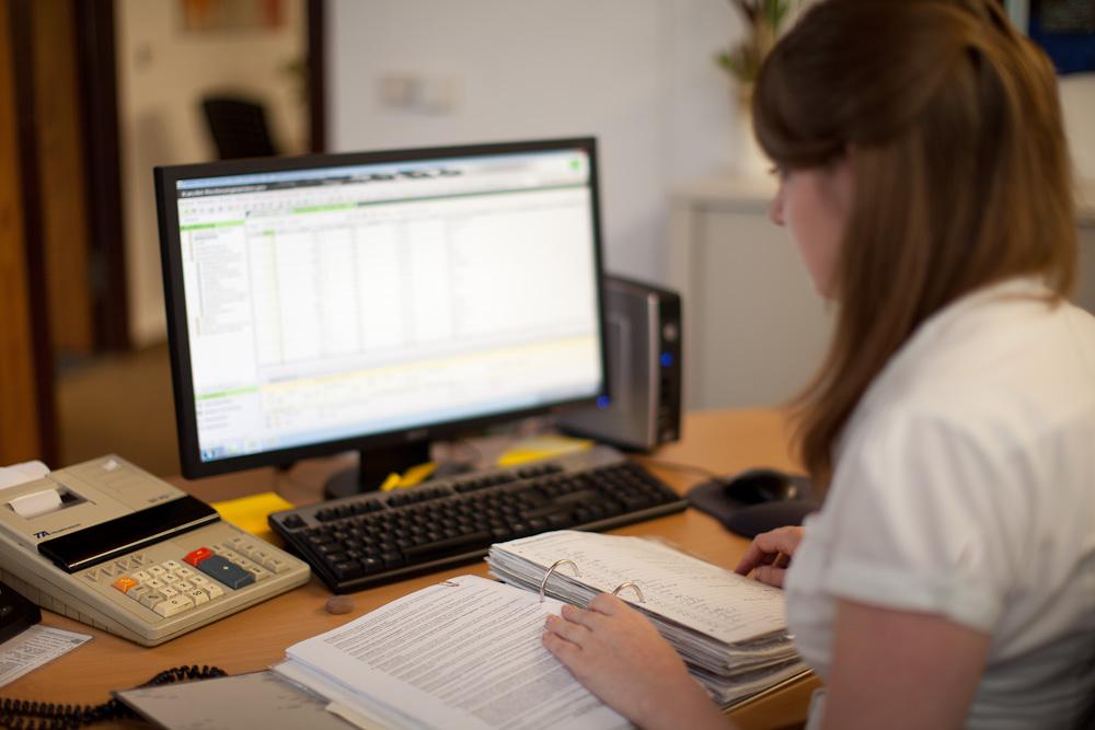 Datenerfassung zum DATEV-Programm.